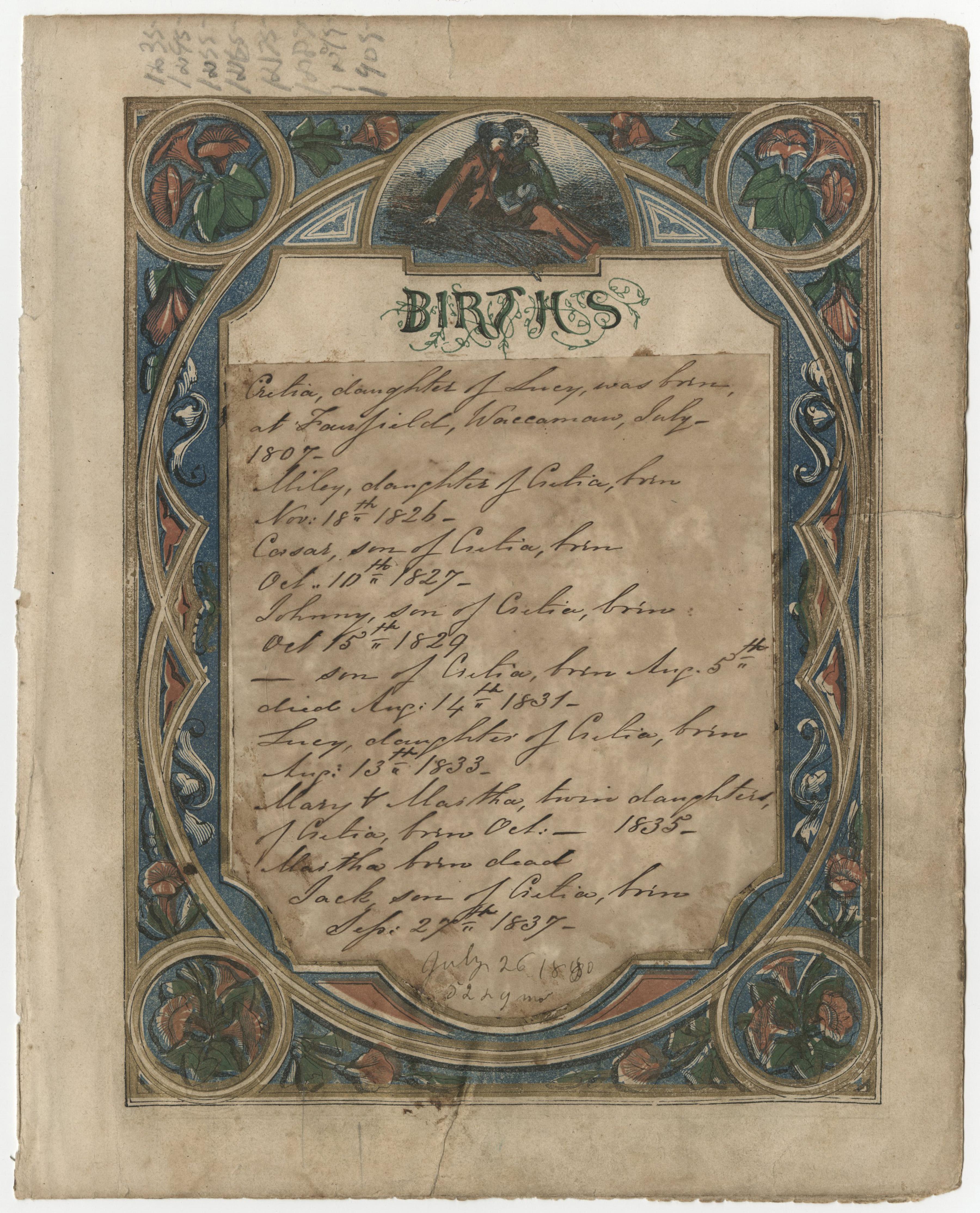 Lucretia Stewart's Family Record