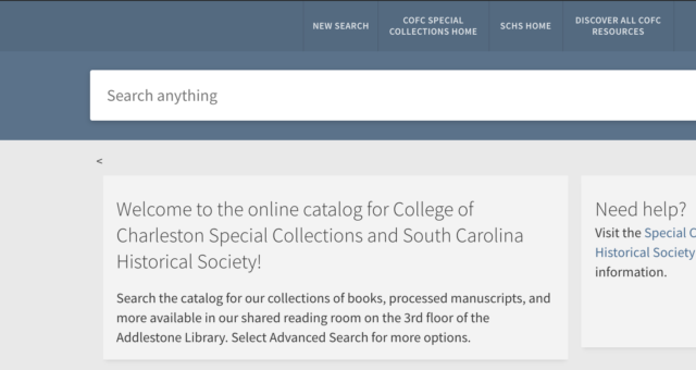 Using the New Discovery Service to Explore and Search Our Collections